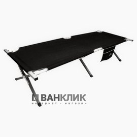 Кровать кемпинговая Highlander Aluminium Camp Bed w/pocket Black 925482