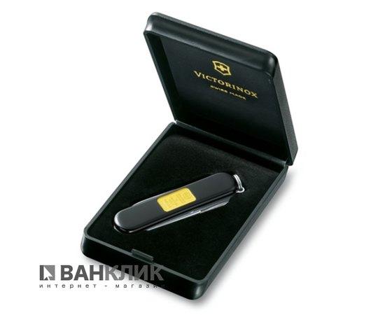 Нож Victorinox Classic SD черный с золотой пластинкой 0.6203.87
