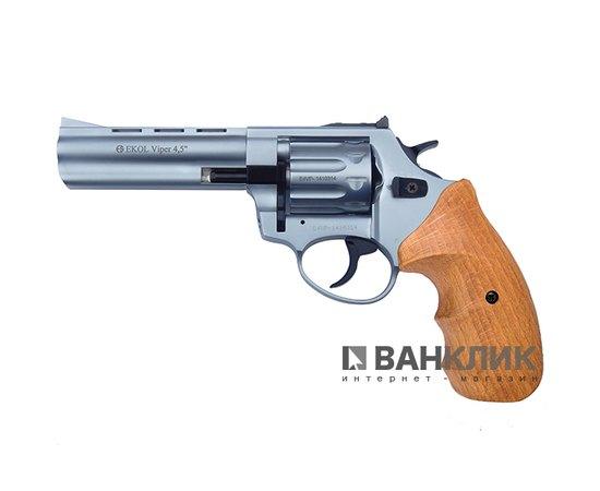 Револьвер под патрон Флобера Ekol Viper 4.5 никель бук