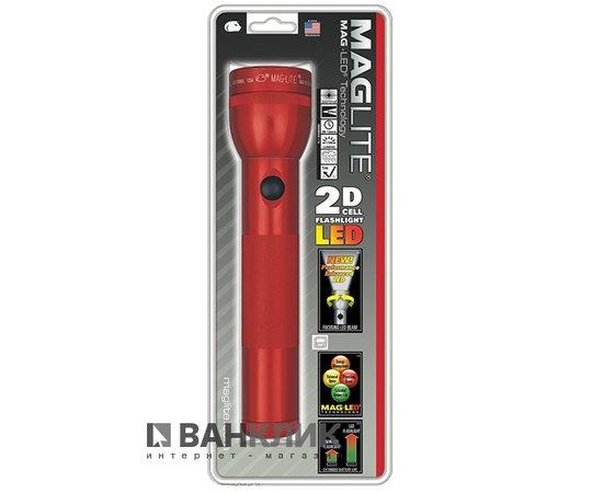 Фонарь Maglite LED 2D (красный) (ST2D036R)