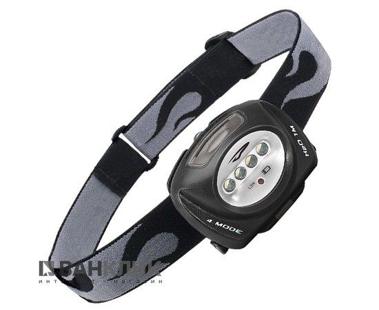 Фонарь туристический налобный Quad LED черный (795626011072)