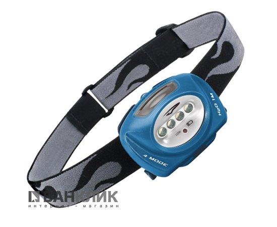 Фонарь туристический налобный Quad LED синий (795626011089)