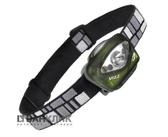 Фонарь туристический налобный Vizz LED зеленый (795626020005)