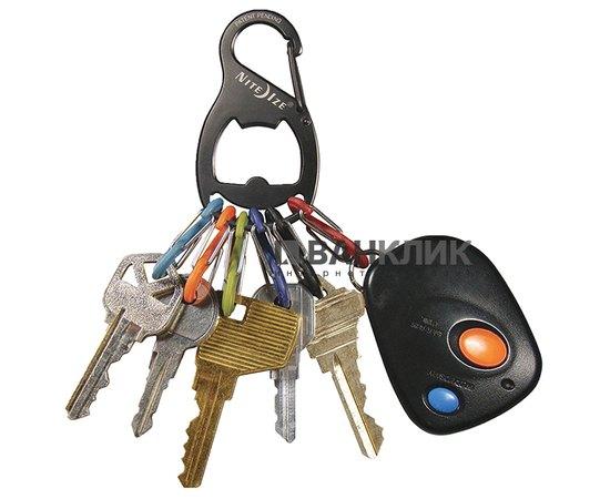 Органайзер для ключей (карабин-открывашка) Key Rack Bottle Opener черный (94664017740)