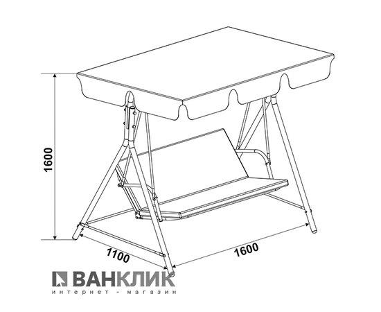 Садовая качель Eleyus MALVA 15 BG+SBR