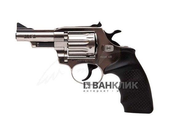Револьвер под патрон Флобера Alfa 431 (никель, пластик)