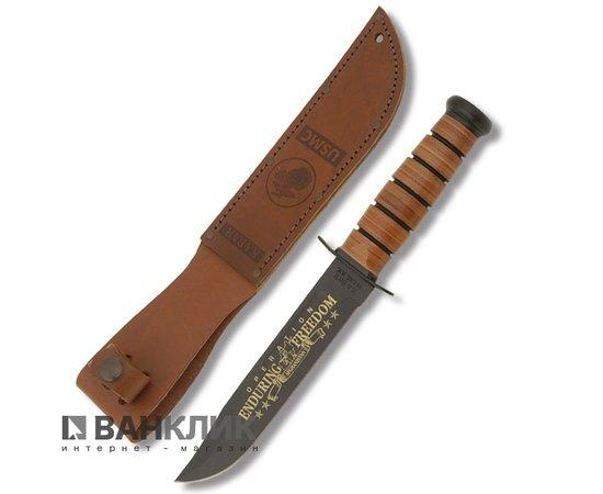 Нож Ka-Bar USMC OEF Afghanistan comm. + Стенд Small Excalibur(а.1429) 9169SE с ножнами